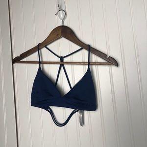 Victoria's Secret sport blue triangle sports bra